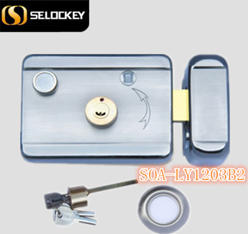 LY1203B2 electric rim door lock with knob inside and outside